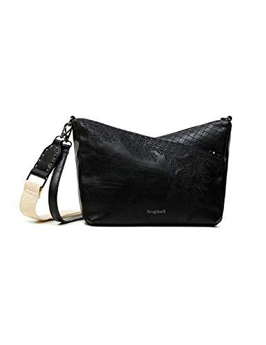 Desigual PU Body Bag, Sac de Sport Across. Femme, Noir, Taille Unique