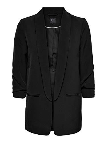 Only ONLELLY 3/4 Life Blazer TLR Noos, Black, 38 Femme prix et achat