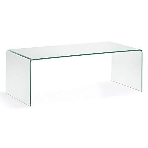 LF - Table basse Burano verre transparent 110 x 50 cm