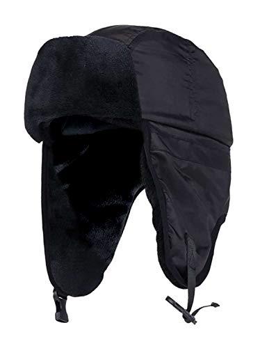 HEAT HOLDERS - Homme Adulte Imperméable Thermique Polaire Hiver Ski Chapka Chapeau de Trappeur (S/M, Black (Trapper))