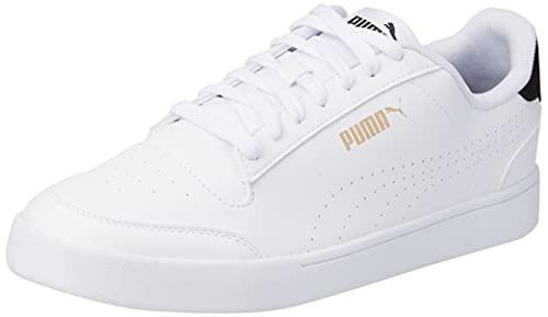 PUMA Baskets Unisexes Shuffle Perf - Blanc - Puma Blanche Parasailing Puma Team Gold, 41 EU