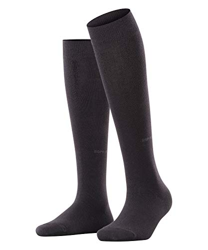 ESPRIT Basic Pure, Chaussettes Longues Femme, Coton, Noir (Black 3000), 39-42 (UK 5.5-8 Ι US 8-10.5), 1 Paire prix et achat