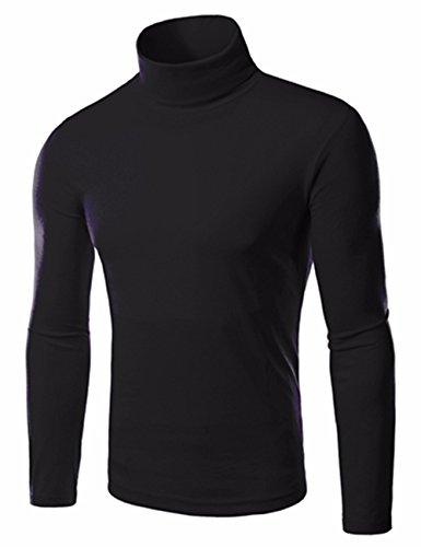 EMMA Chemise Thermique à Col Roulé à Manches Longues Hommes T-shirt Slim Straight Pull...
