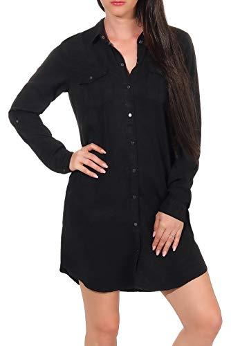 Vero Moda Vmsilla Ls Short Dress Blck Noos GA Robe, Noir (Black Black), 42 (Taille Fabricant:...