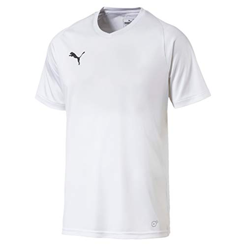 Puma 703509 T-Shirt Homme Puma White/Puma Black FR : L (Taille Fabricant : L)