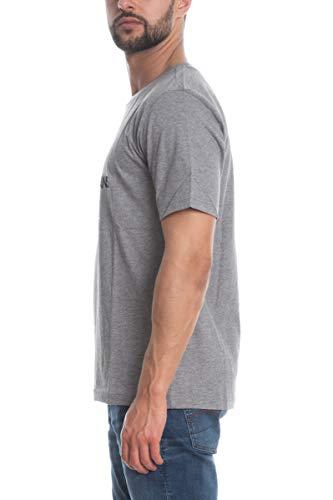 Calvin Klein T-Shirt col Rond Gris Gros Logo Blanc pour Homme