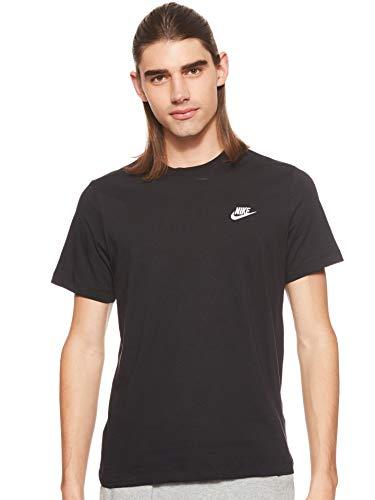Nike M NSW Club Tee T-Shirt Homme, Noir (Black/White 013), L