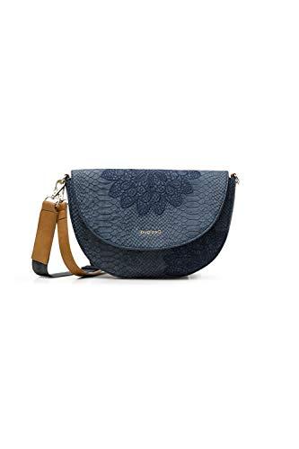 Desigual PU Body Bag, Sac de Sport Across. Femme, Bleu, Taille Unique prix et achat