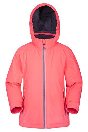 Mountain Warehouse Slope Style - Veste de Ski étanche pour Enfant - Coutures étanches - Respirante - Poignets intérieurs - Fermeture étanche - pour Snowboard et Ski Rose 9-10 Ans