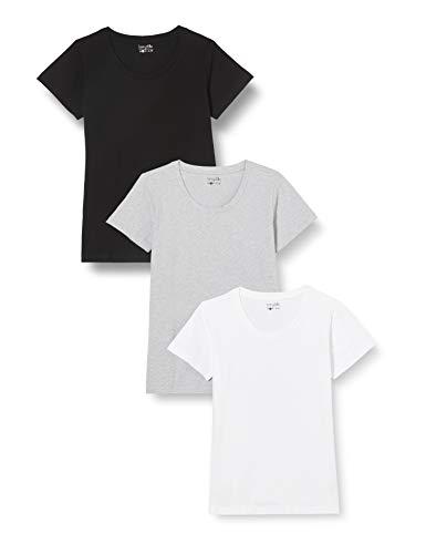 Berydale T-shirt pour femmes à encolure ronde, lot de 3, différentes couleurs,...