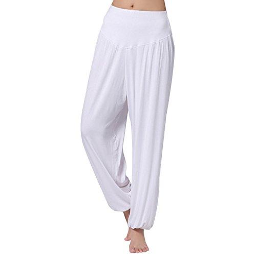 JLTPH Femme Sarouels Pantalon Yoga Soft Modal Bouffant Pantalons Bloomer Danse Pilates Sport Pants
