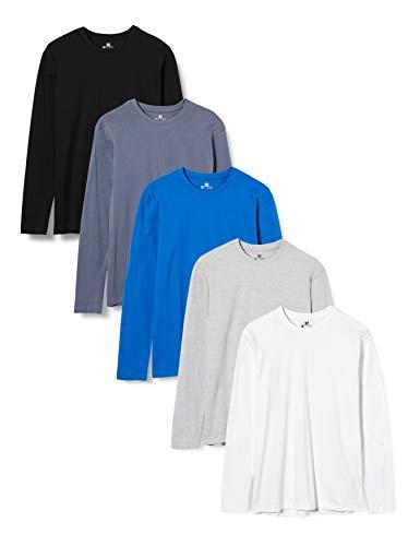 Lower East T-shirt à manches longues Homme Pack de 5 Multicolore...