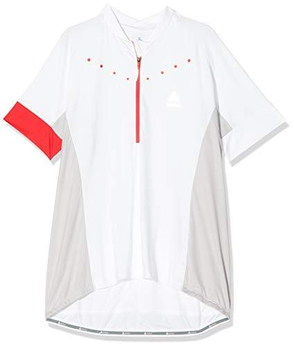 Odlo Stand-Up Collar S/S 1/2 Zip Gavia 4 T-Shirt, Blanc 410891 10000, XXL Femme prix et achat