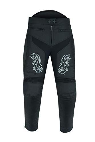 Warrior Gears Pantalon de moto Graphic pour femme - Imperméable et coupe-vent - Doublure...