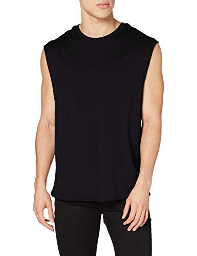 Urban Classics Open Edge Sleeveless Tee T-Shirt, Noir (7), XL Homme
