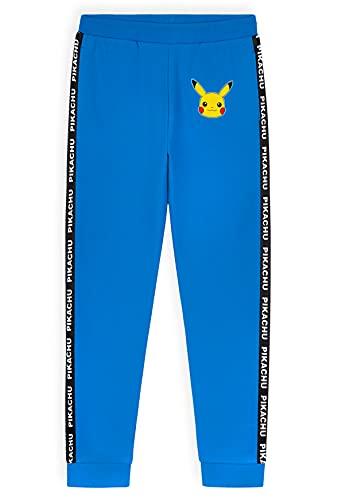 Pokemon Pantalon Jogging Enfant Garcon - Bas De Survetement Enfant Pikachu - Pantalons Garçon (Bleu, 7-8 Ans) prix et achat