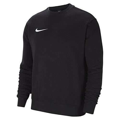 Nike Chandail de Football à Manches Longues en Molleton pour Hommes, Taille M, Noir/Blanc