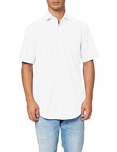 Seidensticker Regular Chemise Manches courtes avec col Kent, sans repassage Homme, Blanc (1), 47 prix et achat