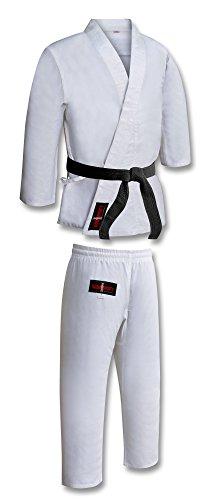 vader sports Kimono de karaté adulte blanc uniforme polycoton Gi avec ceinture M/W sanforisé...