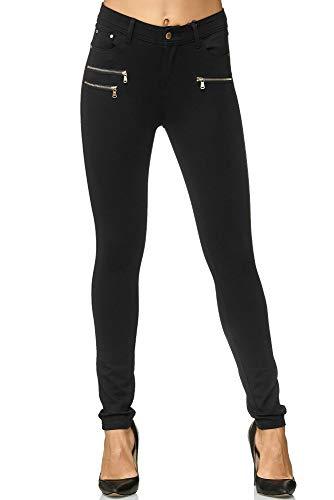 Elara Pantalon Femme Stretch Skinny Fit Jegging Chunkyrayan H86 40 (L) Noir