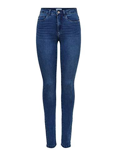 ONLY Onlroyal High W.Skinny Jeans Pim504 Noos, Medium Blue Denim, 32 Long Femme