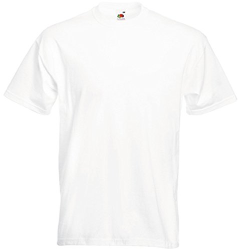 Fruit of the Loom - 61-044 - T-Shirt - Homme - Blanc - X-large