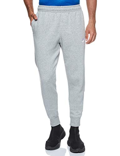 Nike M NSW Club JGGR BB Pantalon de Sport Homme DK Grey Heather/Matte Silver/(White) FR: M (Taille Fabricant: M)