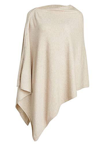 PULI Femme Bouton tricoté Poncho Couverture Châle Cape Cardigan Wrap Écharpe Taille Unique