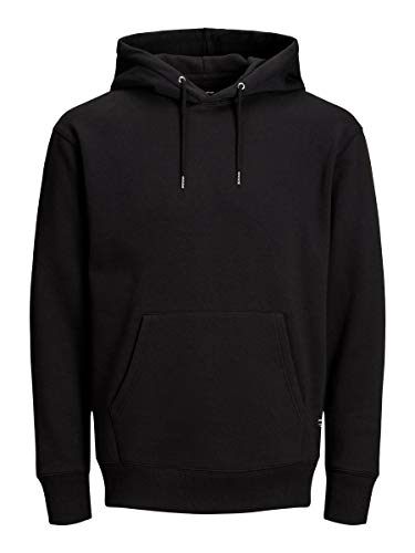 JACK & JONES Jjesoft Sweat Hood Noos Shirt À Capuche Homme, Noir (Blackblack), M