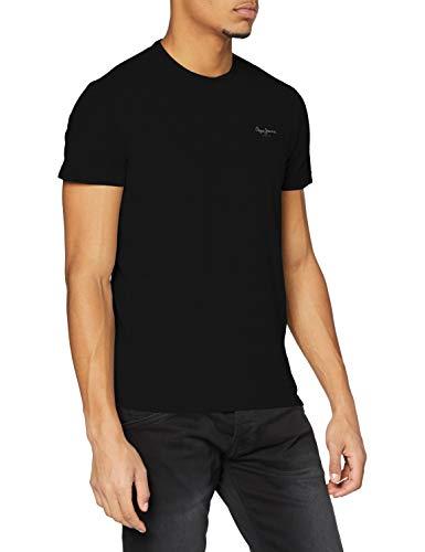 Pepe Jeans PM503835 T-Shirt Homme - Noir - Large