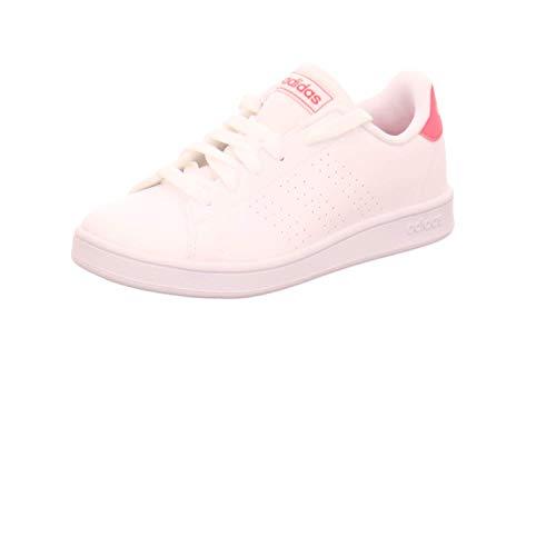 adidas Advantage K, Chaussure de Tennis, FTWR White Real Pink S18 FTWR White, 37 1/3 EU