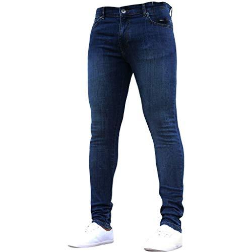 Jeans Homme Coton Denim de Couleur Pure Pantalon de Travail Hip-hop délavé Vintage prix et achat