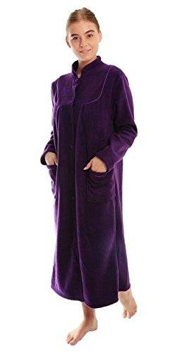 Robe de chambre en polaire pour femmes - Violet - XX-Large