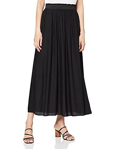 Only NOS Onlvenedig Paperbag Long Skirt WVN Noos Jupe, Noir (Black Black), 36 (Taille...