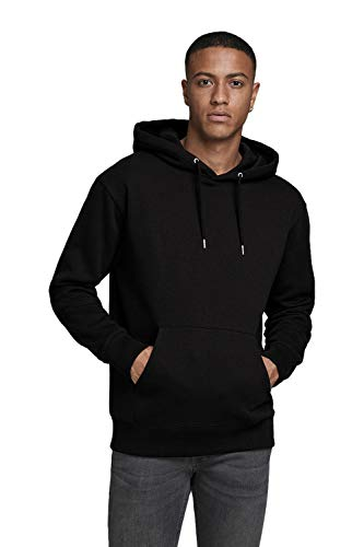 JACK & JONES Jjesoft Sweat Hood Noos Shirt À Capuche Homme, Noir (Blackblack), L