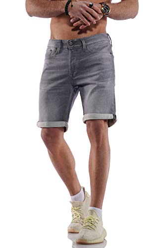 Jack & Jones Jjirick Jjicon Shorts Ge 005 I.k STS, Denim Gris, XL Homme