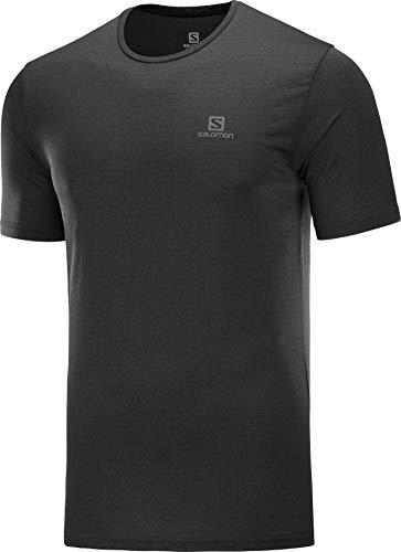 SALOMON Agile Training T-Shirt Léger Trail Running Randonnée, Femme, Noir, M