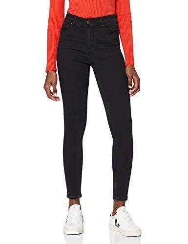 Marque Amazon - find. Jean Skinny Taille Normale Femme, Noir (Black), 34W / 32L, Label: 34W /...