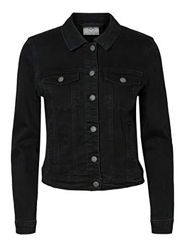 Vero Moda Vmhot SOYA Ls Denim Jacket Mix Noos Blouson, Noir (Black Black), 40 (Taille...