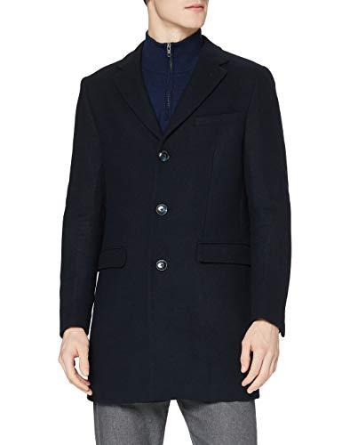 Marque Amazon - find. Wool Mix Smart Coat - Manteau - Homme, Bleu (Navy), 3XL, Label: 3XL