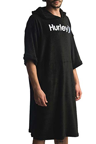 Hurley M ONE&ONLY PONCHO Serviettes Homme Noir FR : M (Taille Fabricant : M)