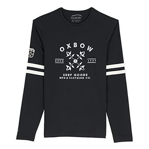 Oxbow N2TOULA Tee Shirt Manches Longues Graphique Homme Noir prix et achat