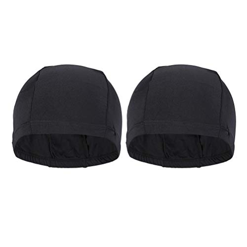 LIOOBO 2pcs Bonnet de Bain en Polyester Extensible Bonnets de Bain de Coupe Confortable Bonnets...