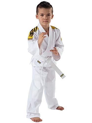 Kwon Kimono de Judo pour Enfant Blanc Blanc 140 cm