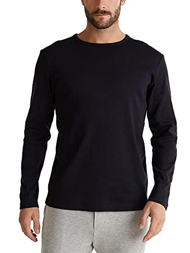 Esprit 990ee2k309 T-Shirt À Manches Longues, Noir (Black 001), X-Large Homme