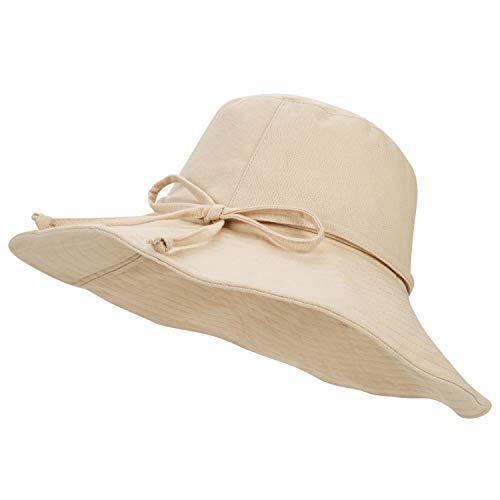 IBLUELOVER Chapeau de Soleil Plage Visière Large Bord Capeline Femmes Été Anti-UV Sun Hat...