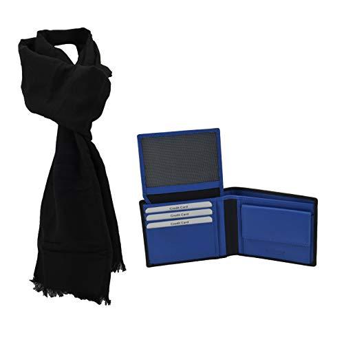 Gai Mattiolo, Coffret Cadeau pour homme, Set écharpe et portefeuille en cuir véritable...