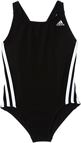 adidas Infinitex Maillot de Bain pour Fille de 3Bandes 1Piece 104 cm Noir - Noir/Blanc prix et achat