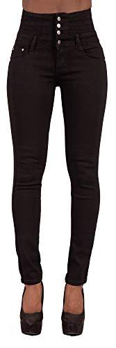 Glook Pantalon Femme Denim Jeans Slim Taille Haute Jean Stretch Pant (42, Noir),XL prix et achat