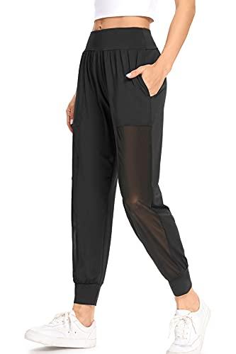 WOWENY Pantalon De Sport Femme Jogger Pantalon Survêtement Casual avec Poche pour Running Fitness Bas De Jogging (Noir, XS, x_s) prix et achat